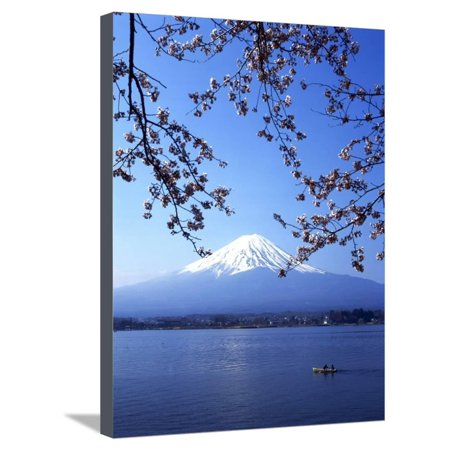 Cherry Blossom with Mount Fuji and Lake Kawaguchi in Background, Fuji-Hakone-Izu National Park, Jap Stretched Canvas Print Wall Art By Dallas and John Heaton](Heaton Park Halloween)