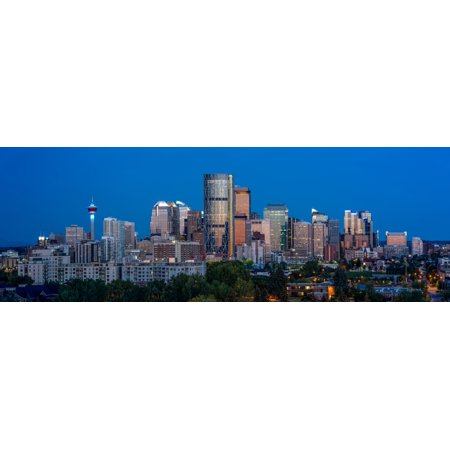 Skylines in a city Calgary Alberta Canada Poster Print by Panoramic Images](Halloween City Calgary)