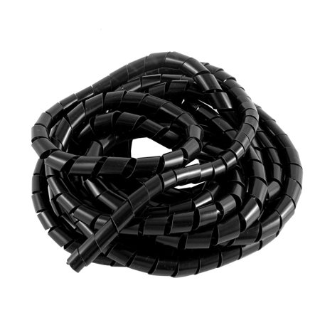 12mm 4m cable wire tidy wrap organizer spiral wrapping band for pc cinema tv  - walmart com