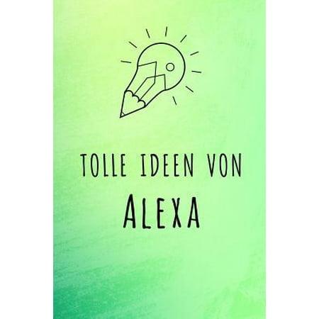 Tolle Ideen von Alexa: Unliniertes Notizbuch mit Rahmen f�r deinen Vornamen Paperback (- Brillen-optische Rahmen)