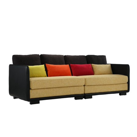 Classic 2 Piece Colorful Convertible Living Room Sofa