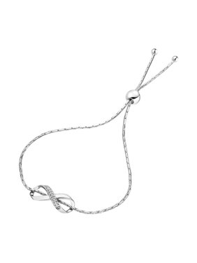 13fa362f40df Product Image 1 20 cttw Diamond Bolo Bracelet .925 Sterling Silver  (Infinity Style)