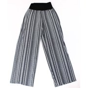 AGB NEW Black White Women's Size Medium M Printed Pull-On Pants