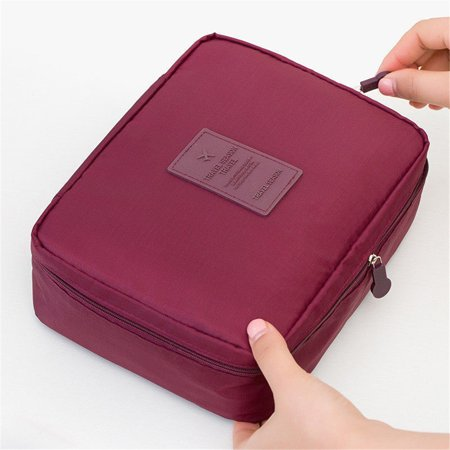 Professional Storage (Professional Large Makeup Bag Cosmetic Case Storage Handle Organizer Travel Kit Red)