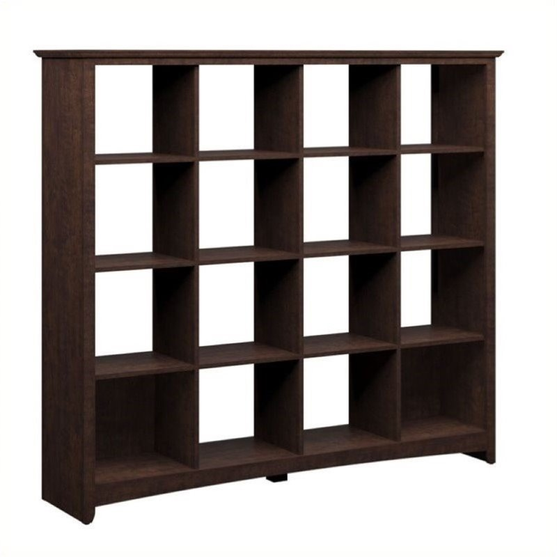 Bowery Hill 16 Cubby Bookcase in Madison Cherry