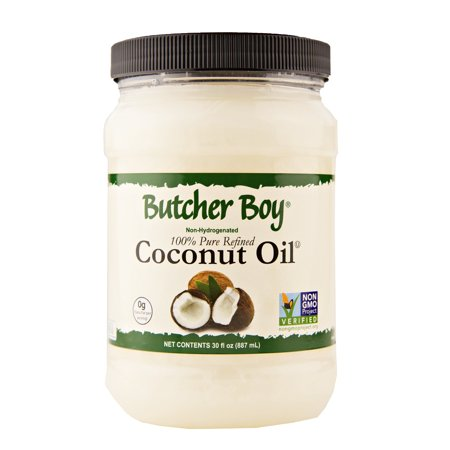 Butcher Boy Coconut Oil Non-GMO Project Verified (Two 30 oz. Jars) ()