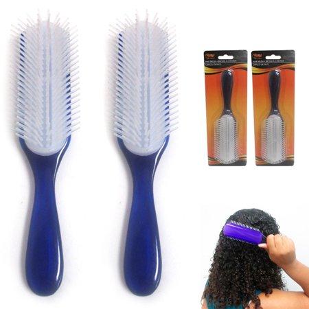 Set 2 Paddle Detangler Brush Women Men Kids Hairbrush Comb Gift Idea Salon Home