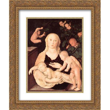 Virgin Vines (Hans Baldung 2x Matted 20x24 Gold Ornate Framed Art Print 'Virgin Of The Vine Trellis ' )