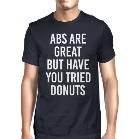 Abs Are Great But Tried Donut Men Navy T-shirts Funny T-shirt (Abs Skirt)