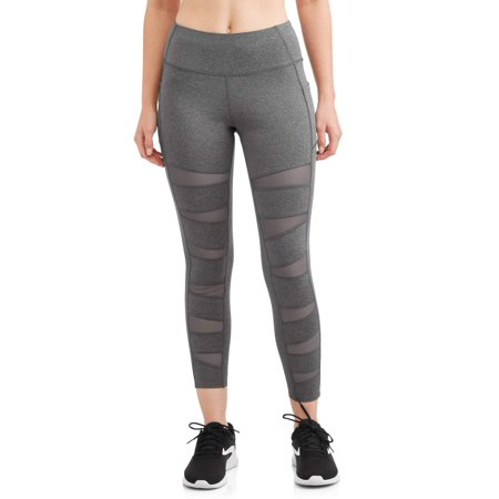 Womens Active Leggings with Mesh Cutouts