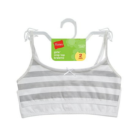 4fd29352ae Hanes - Hanes Girls  Crop Bralette 2 Pack - Walmart.com