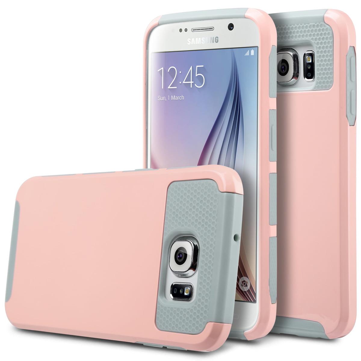 online retailer a8af5 c4862 ULAK Galaxy S6 Case, 2in1 Hybrid Rubber Matte Slim Hard Case Cover ...