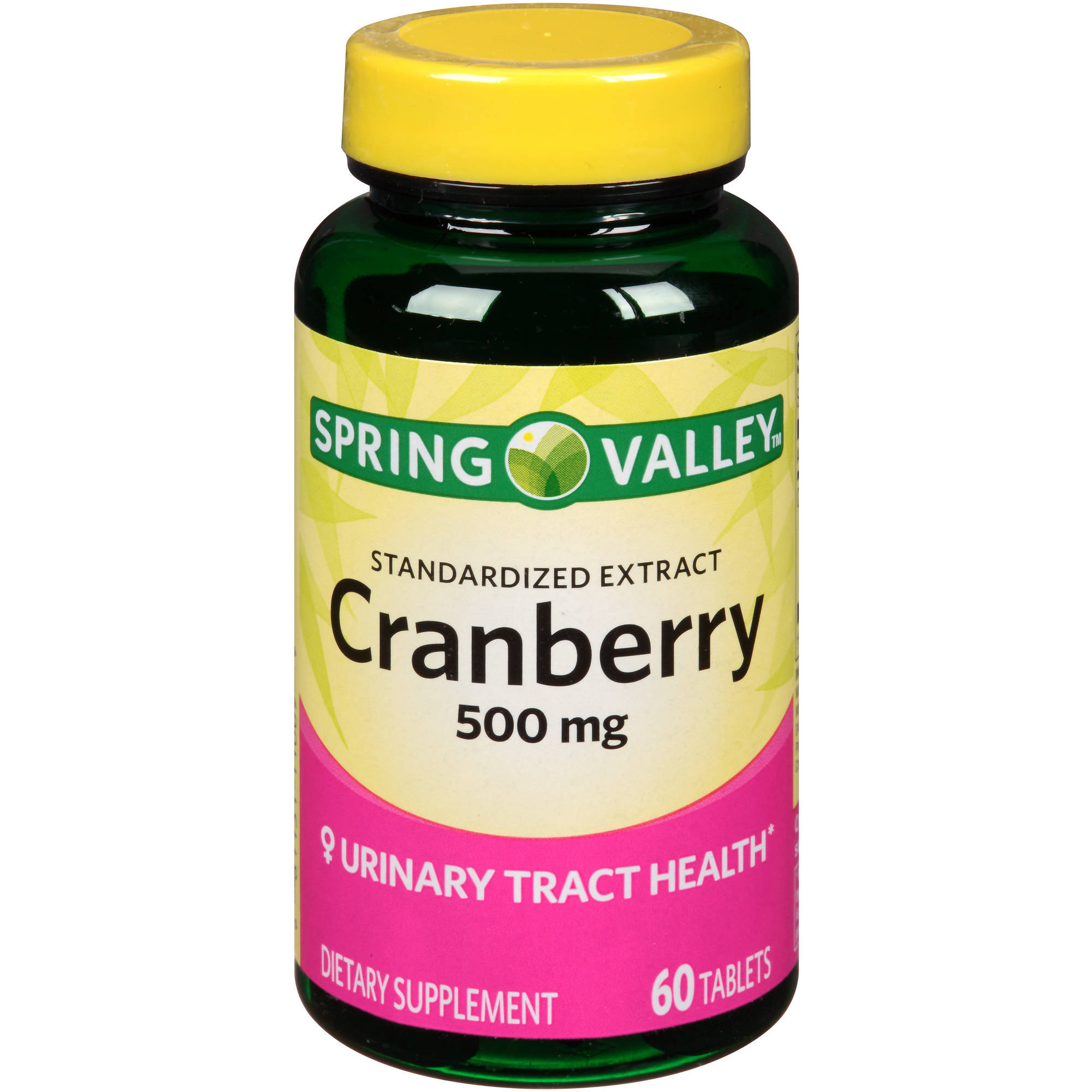 Spring Valley Standardized Extract Cranberry Dietary Supplement, 500 mg, 60 count