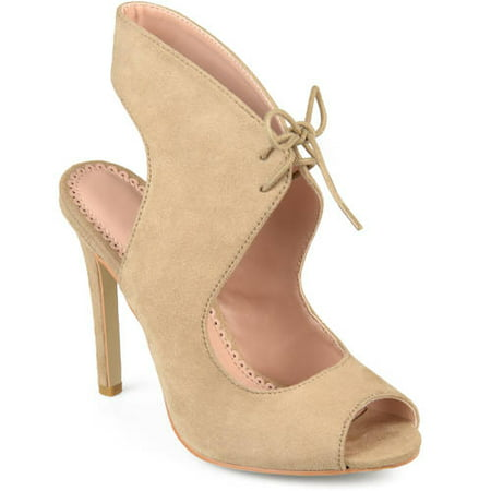 Women's Ankle Strap Faux Suede Open Toe Lace-up High