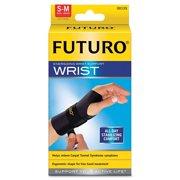 "FUTURO 48400EN Energizing Wrist Support, S/M, Fits Right Wrists 5 1/2""- 6 3/4"", Black"