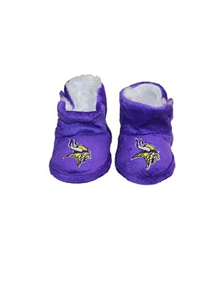 Jewels Fashion NFL Minnesota Vikings Baby Slippers (Large, Boot Slipper) # SP1036L