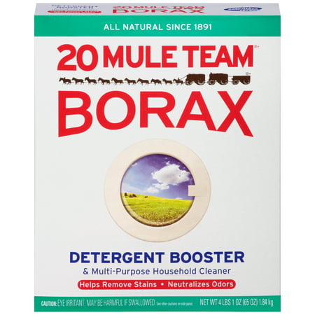 20 Mule Team Borax Detergent Booster & Multi-Purpose Household Cleaner, 65 Ounce (Gain Weight Men)