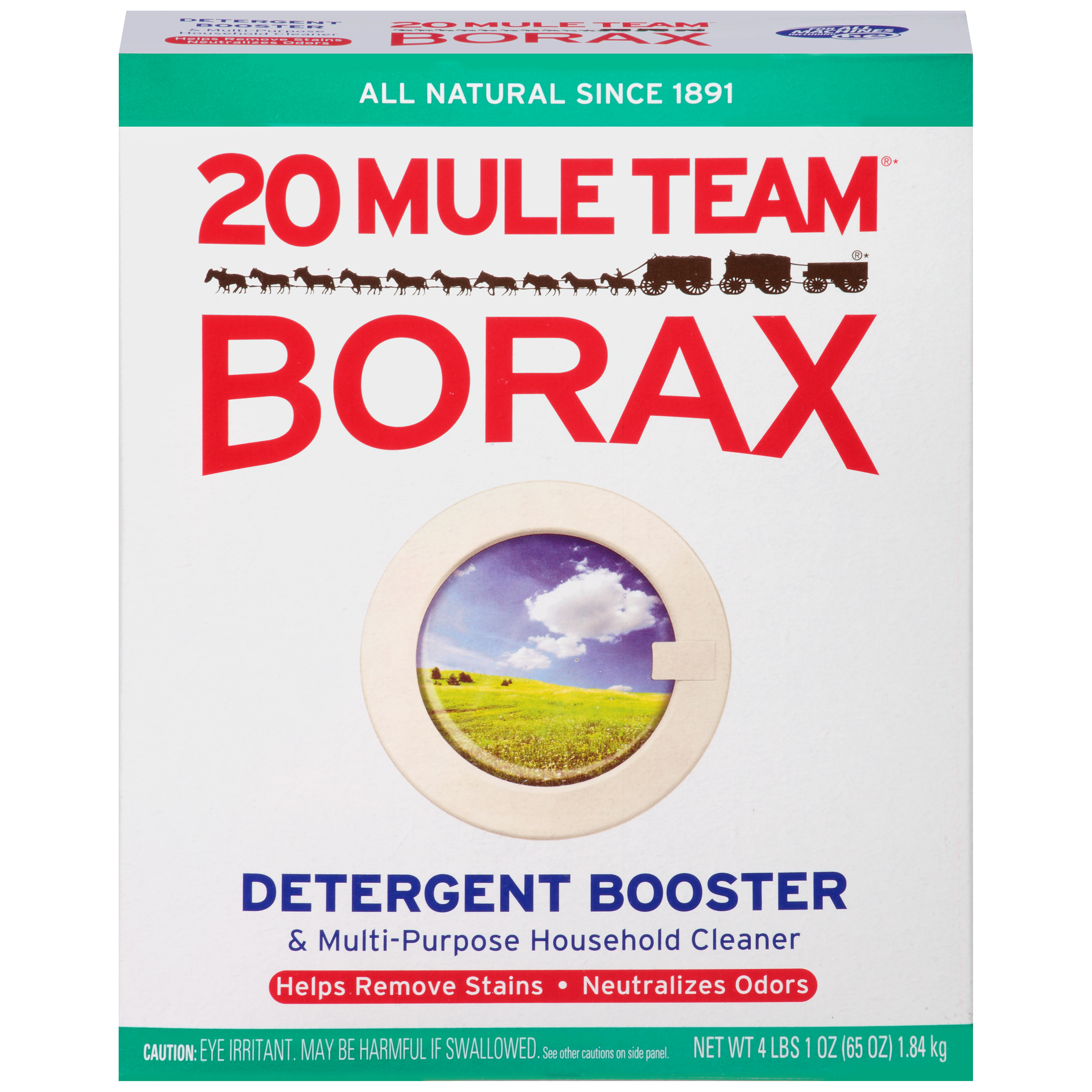 20 Mule Team Borax Detergent Booster & Multi-Purpose Household Cleaner, 65 Oz Box