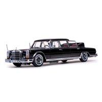1966 Mercedes 600 Landaulet Limousine Black 1/18 Diecast Model Car by Sunstar