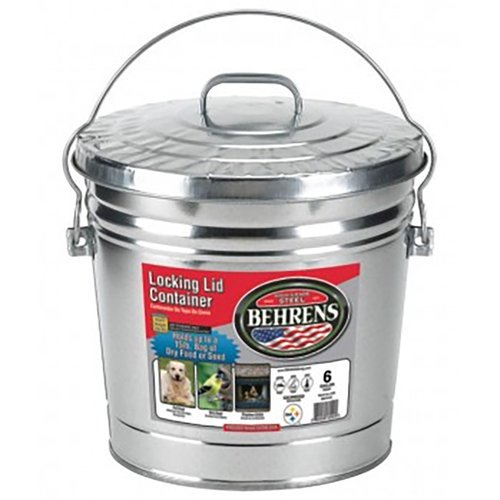 Galvanized Container Trash Can With Lid 6 Gallon Walmart Com Walmart Com