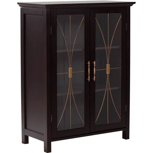 Elegant Home Fashions Alma Double Door Floor Cabinet, Espresso