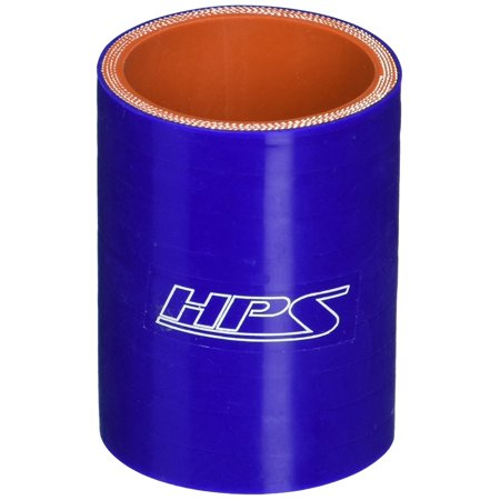HTSC-187-BLUE Silicone High Temperature 4-ply Reinforced Straight Coupler Hose, 100 PSI Maximum Pressure, 3