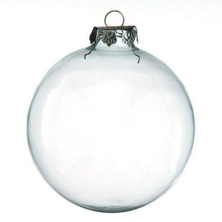 Clear Glass Ornaments: 100mm Glass Balls, 2 pack 3 Pack Nutcracker Ornaments