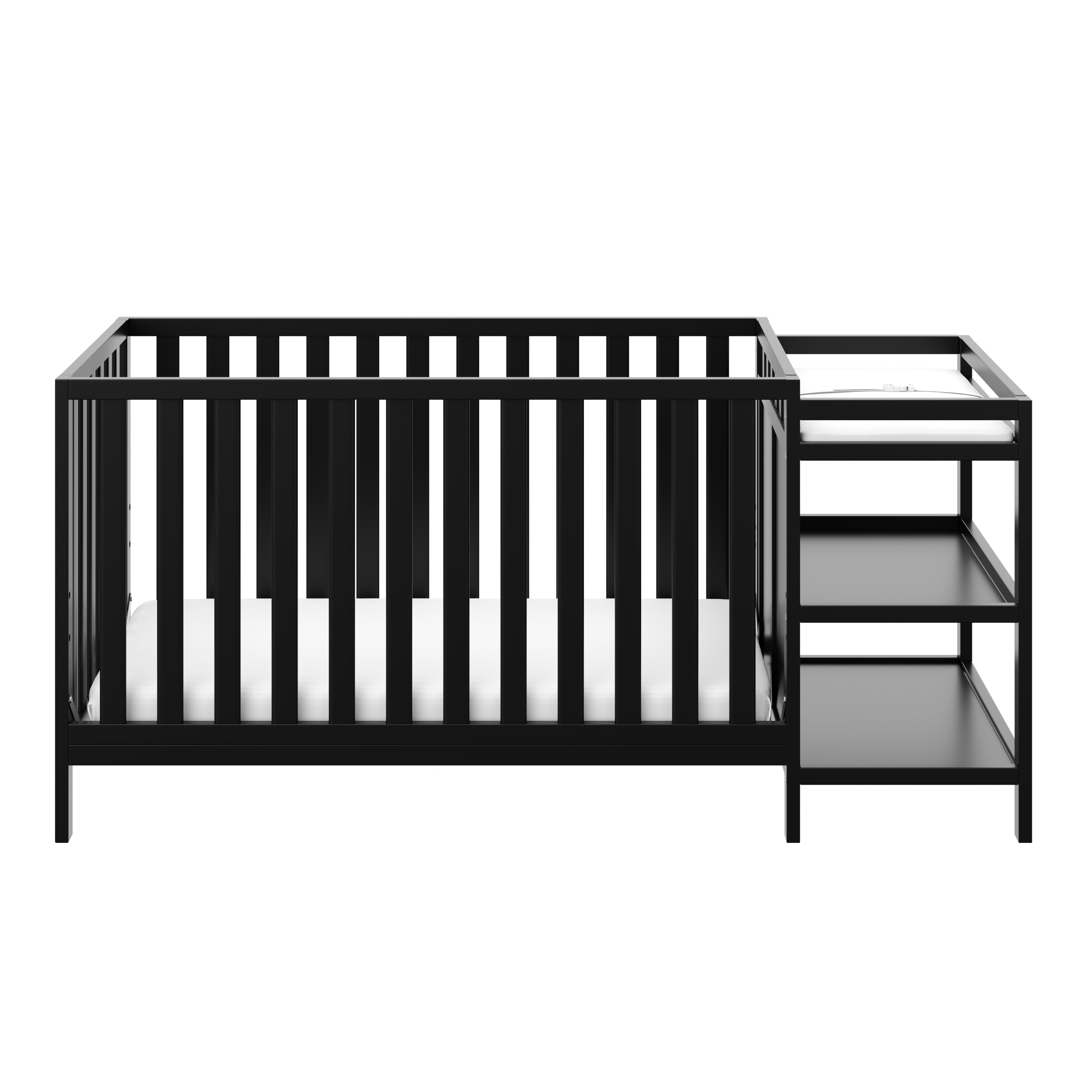Storkcraft Pacific 4 in 1 Convertible Crib and Changer Black
