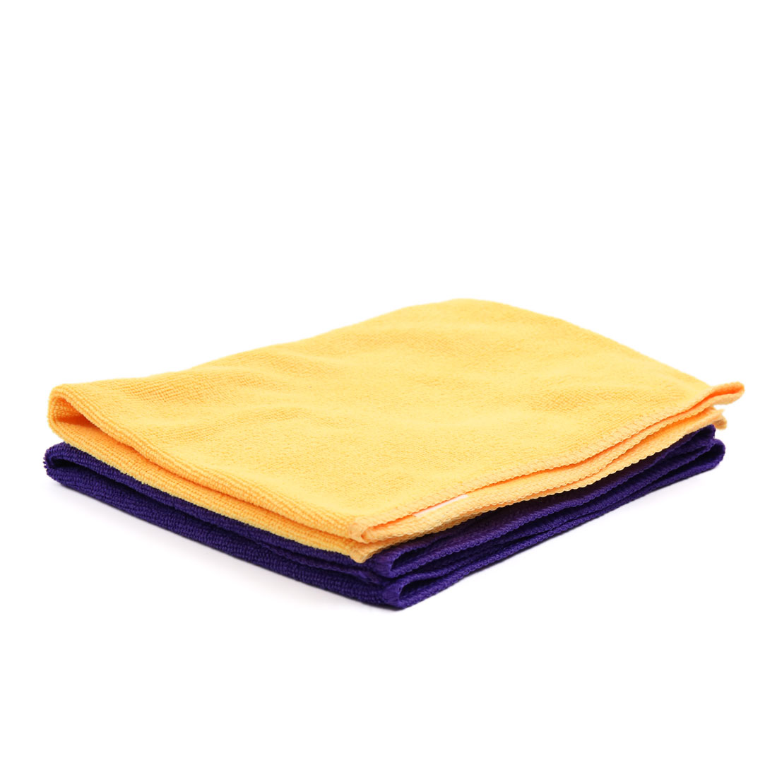 2 Pcs High Absorbing Synthetic Chamois Car Clean Cloth Towel No-scratched for Auto Vehicle Yellow Purple