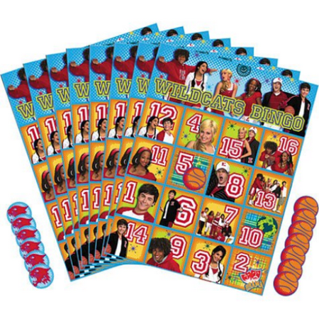 High School Musical 2 Bingo Party Game (1ct) for $<!---->