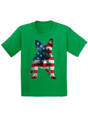 bc109b5e Product Image Awkward Styles Youth USA Flag French Bulldog Cute Graphic  Youth Kids T-shirt Tops 4th