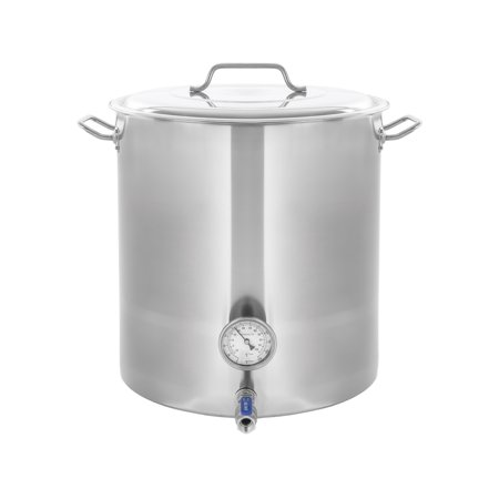 CONCORD Stainless Steel Home Brew Kettle Stock Pot (Weldless Fittings) (120 QT/ 30 Gal)