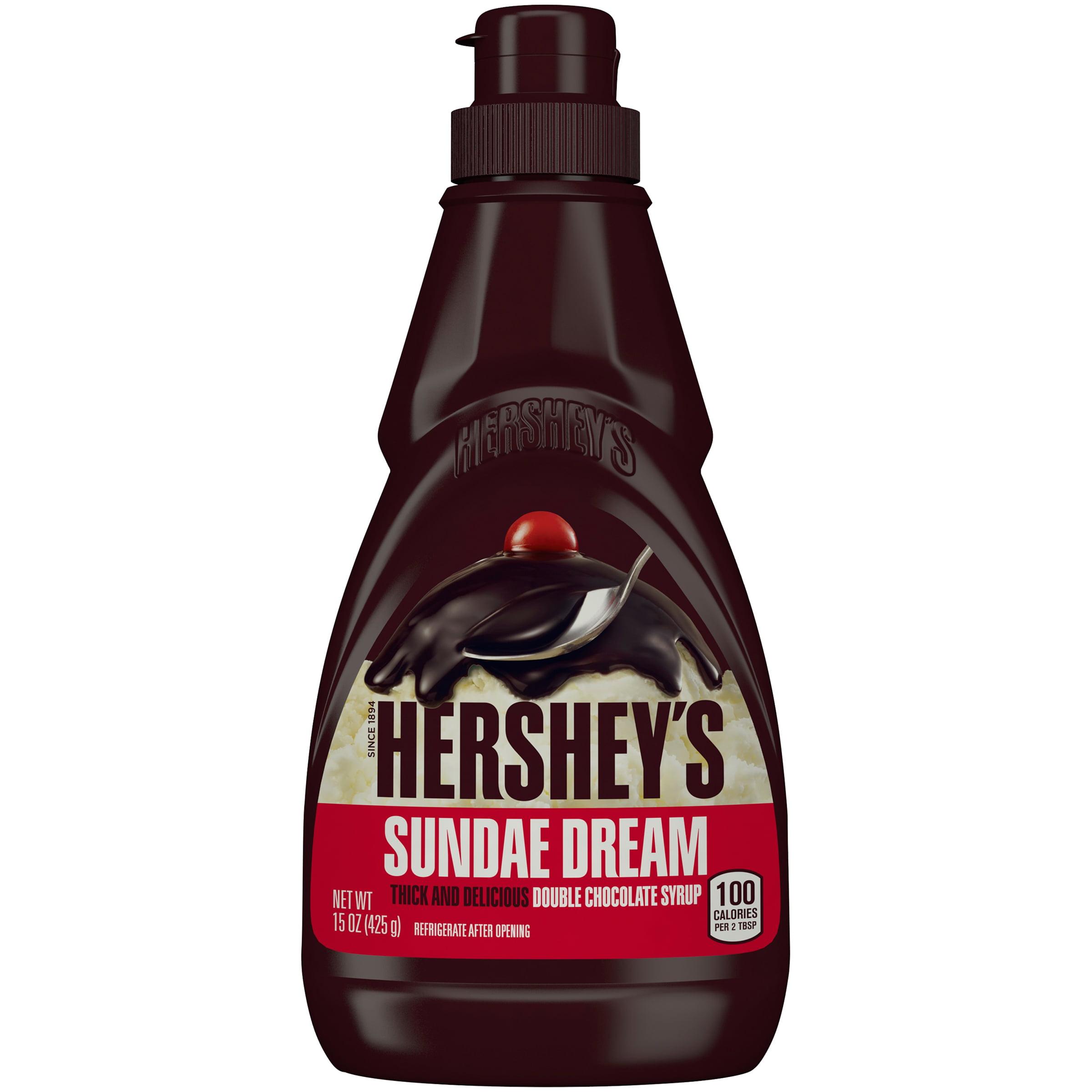 HERSHEY'S SUNDAE DREAM Double Chocolate Syrup, 15 Ounces