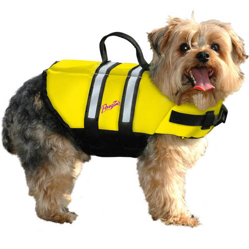 Pawz Pet Products Nylon Dog Life Jacket, Extra Large, Yellow