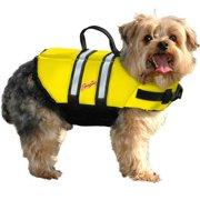 Pawz Pet Products Nylon Dog Life Jacket, Yellow