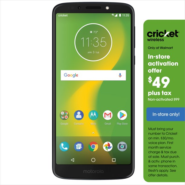 Cricket Wireless Motorola Moto G6 Forge 16gb Prepaid Smartphone Deep Indigo Walmart Com Walmart Com