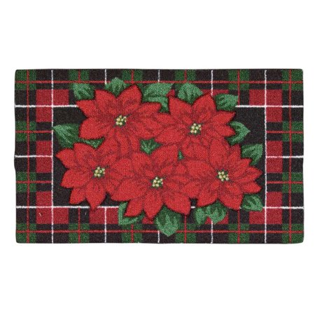 Nourison Enhance Christmas Poinsettia Indoor Doormat ()