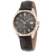 Tag Heuer Carrera Automatic Anthracite Dial Brown Leather Mens Watch WAR215EFC6336