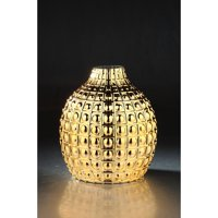 "9.5"" Metallic Gold Bubble Tabletop Hand Blown Glass Vase"