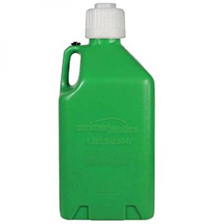 Space Saver Utility Jugs - Scribner Plastics (2000G) Green Utility Jug - 5 Gallon Capacity