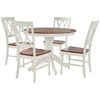 Crosley Shelby 5Pc Round Dining Set - Table, 4 Chairs