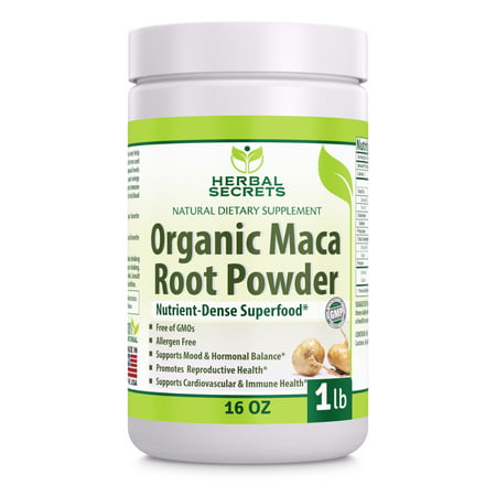 Herbal Secrets Organic Maca Root Powder - 16 Oz