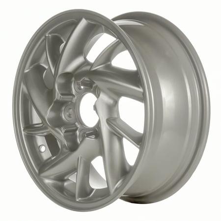 Aftermarket 2001-2005 Pontiac Grand Am  15x6 Aluminum Alloy Wheel, Rim Sparkle Silver Full Face Painted - 6547