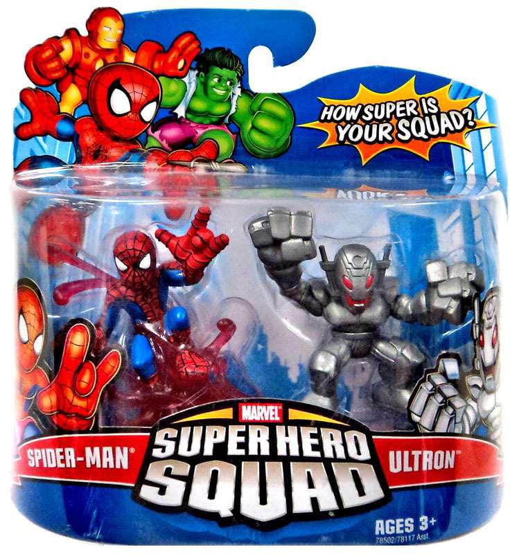 Hasbro Marvel Super Hero Squad Series 10 Spider-Man & Ult...