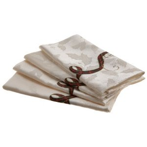Lenox Holiday Nouveau Napkin 4-Pack, Ivory (Ivory Napkins)