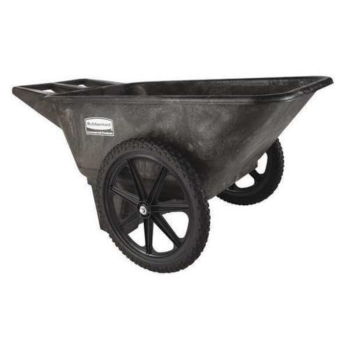 Rubbermaid FG564200BLA Big Wheel Cart,HD,1/4 cu. yd.,300 lb.