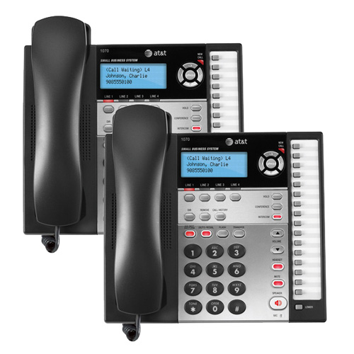 AT&T 1070 (2 Pack) 4-Line Corded Phone w/ Caller ID