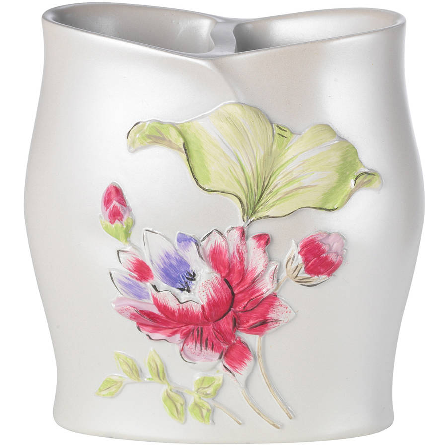 Popular Bath Flower Haven Collection Bathroom Tooth Brush Holder