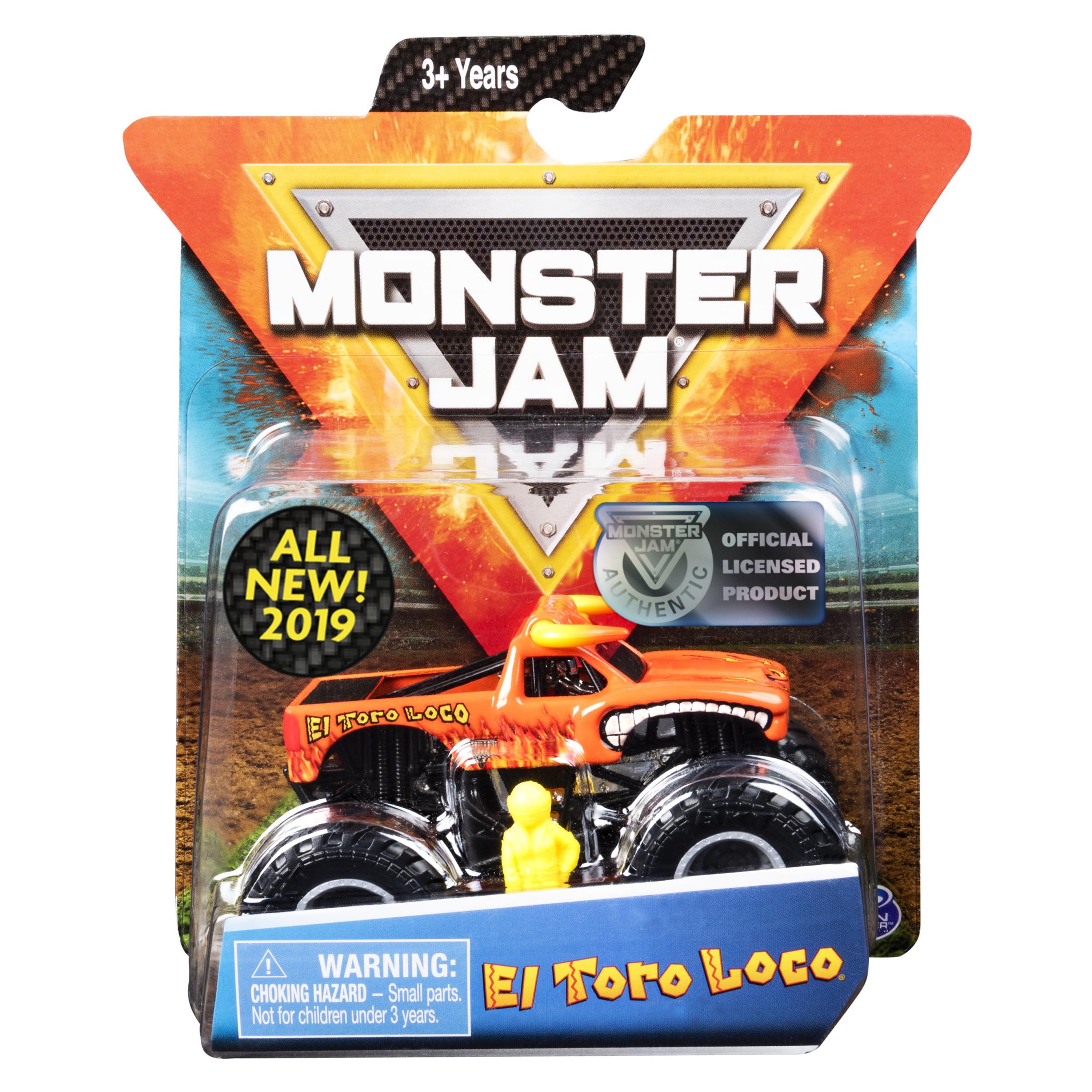 Monster Jam, Official El Toro Loco Monster Truck,Die-Cast Vehicle, Crazy Creatures Series, 1:64 Scale