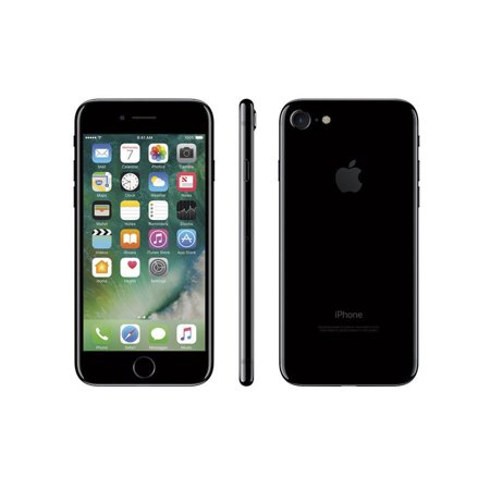 Refurbished Apple iPhone 7 128GB, Jet Black - Locked - Luck Jet
